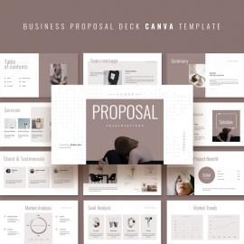 Business Proposal Pitch Deck Presentation Template