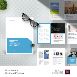 Business Proposal With Blue Accent