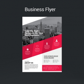 Business Red Boxs Flyer Template