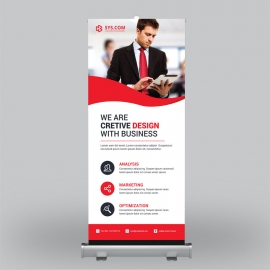 Business Red Roll-Up Benner
