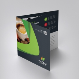 Business Square TriFold Brochure With Green Black Concepts