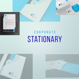 Business Stationary With Blue Concepts