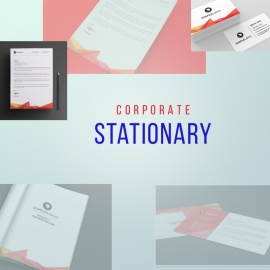 Business Stationary With Red Concepts