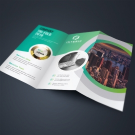 Business TriFold Brochure With Green Concepts