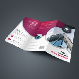 Business TriFold Brochure With Red Accent