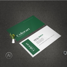 BusinessCard With Dark Green Accent