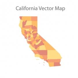 California Map Colorfull Vector Design