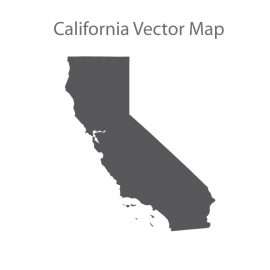 California Map Dark Vector Design