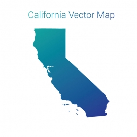 California Map with Gradient Color Vector Design