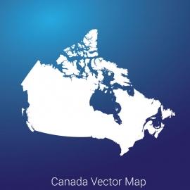 Canada Map Blue Gradient Backgound Vector Design