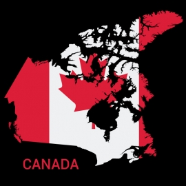 Canada Map Vector Design