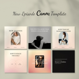 Canva New Episode Instagram Post Template