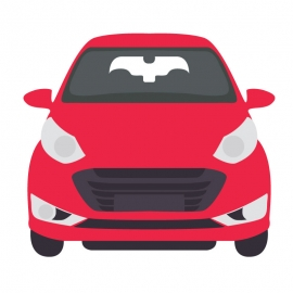 Cartoon Character Red Car