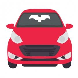 Cartoon Character Red Car