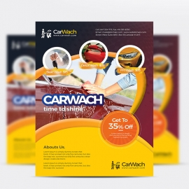 Carwash Corporate Business Flyer Design