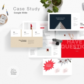 Case Study Minimal Google Slide Template