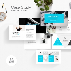 Case Study Minimal Presentation Template