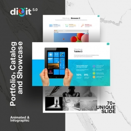 Catalog Portfolio & Showcase Powerpoint | Digit V