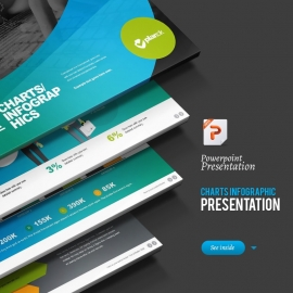 Charts Infograph Powerpoint Template