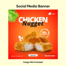 Chicken Nugget Social Media Banner Template