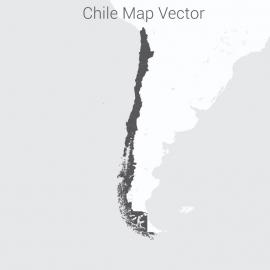 Chile Map Dark Vector Design