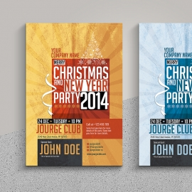 Christmas & New Year Party Flyer / Invitation