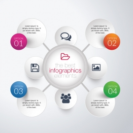 Circle Infographics Template