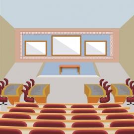 Class Room Vector