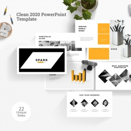 Clean 2020 PowerPoint Template