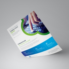 Clean Business Flyer With Blue Accent