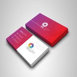 Clean Colourful Business Card