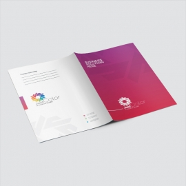 Clean Colourful Presentation Folder