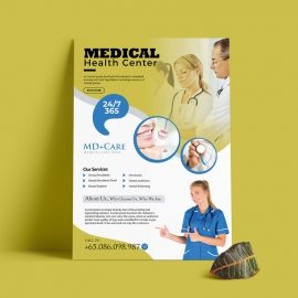 Clean Creative Medical Flyer With Cricle