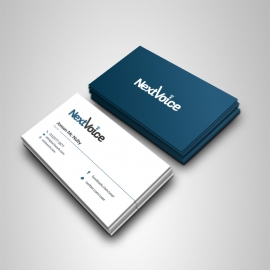 Clean Dark And Light Business Card