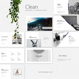 Clean Google Slide Presentation Template