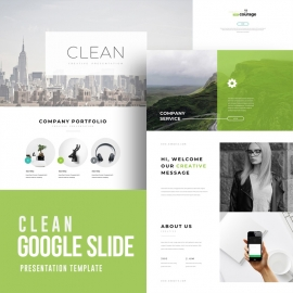 Clean Google Slide Template