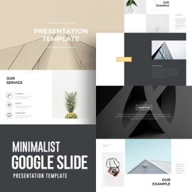 Clean Minimal Google Slide Template