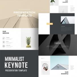 Clean Minimal Keynote Template