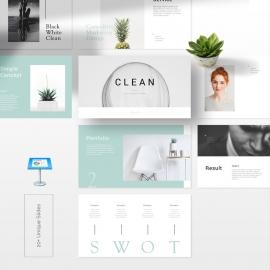 Clean Simple Keynote Template