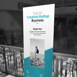 Clean Simple Rollup Banner With Paste Accent