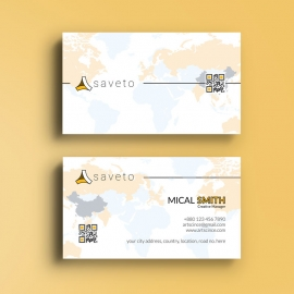 Clean Simple White BusinessCard