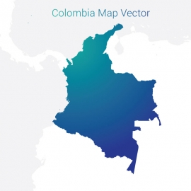 Colombia Map By Gradient Color Vector Design