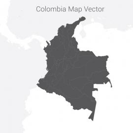 Colombia Map Dark Vector Design
