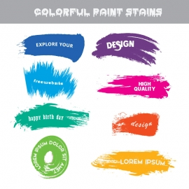 Color Paint Stains