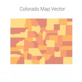 Colorado Map Colorfull Vector Design