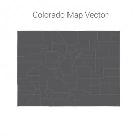 Colorado Map Dark Vector Design