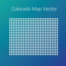 Colorado Map Vector By Dots Design