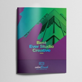 ColorBrush Clean Bifold Brochure