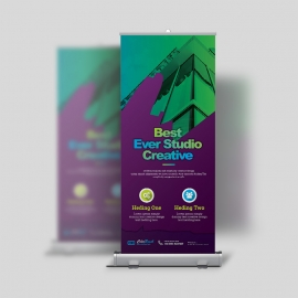 ColorBrush Clean Rollup Banner