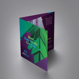 ColorBrush Clean Squre Trifold Brochure